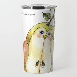 You and Me Make Quite a Pear Travel Mug