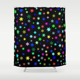 Stars on black ground Shower Curtain