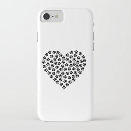 Paw Print Love iPhone Case