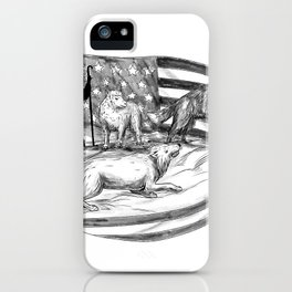 Sheepdog Protect Lamb from Wolf Tattoo iPhone Case