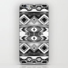Southwest Pattern- Black & White iPhone & iPod Skin