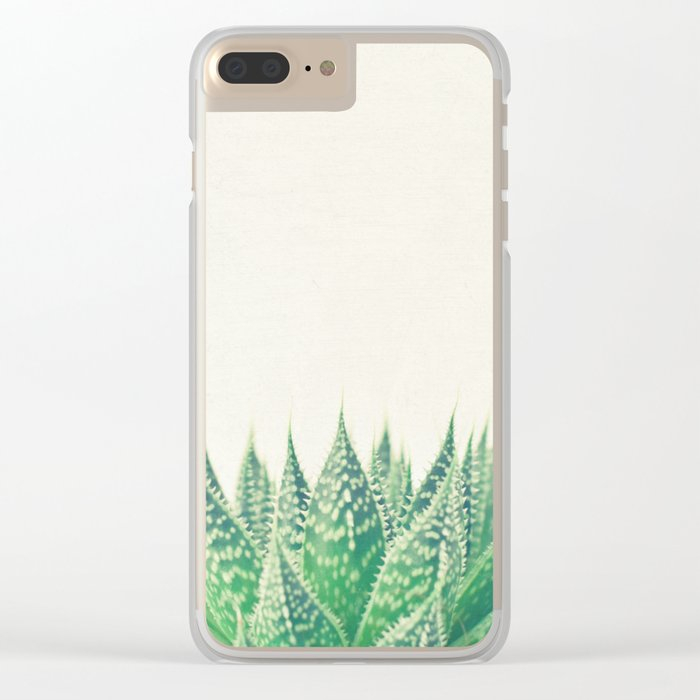 Lace Aloe Clear iPhone Case