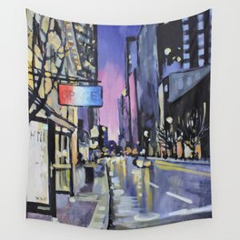Evening Lights of the Burgh Wall Tapestry
