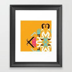 Orange Arabic Framed Art Print