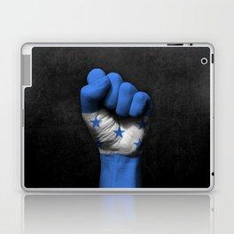 Honduran Flag on a Raised Clenched Fist Laptop & iPad Skin
