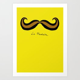 Monsieur Mustard Moustache Art Print
