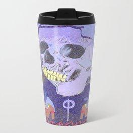 Happy Skull Anubis Metal Travel Mug