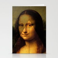 mona lisa Stationery Cards featuring MONA LISA by Ancient
