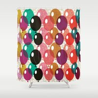 balloons Shower Curtains featuring Balloons by Michelle Nilson