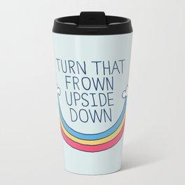 Upside Frown Metal Travel Mug