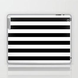 Horizontal Black Stripes Laptop & iPad Skin