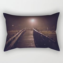 Foggy Footbridge Rectangular Pillow