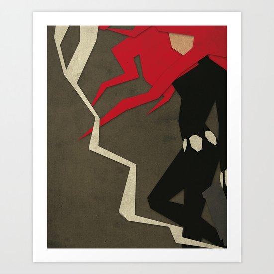Paper Heroes - Black Widow Art Print