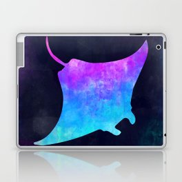 MANTA RAY IN SPACE // Animal Graphic Art // Watercolor Canvas Painting // Modern Minimal Cute Laptop & iPad Skin