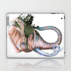 Elephant Shower in Red Laptop & iPad Skin