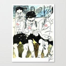 Numbered BTS Boys Canvas Print