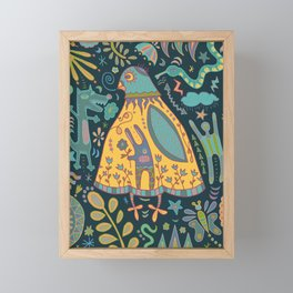 Chatty Yellow Bird Framed Mini Art Print