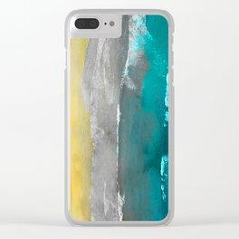 Watercolour Summer beach II Clear iPhone Case