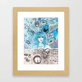 Doodles of Disturbing Thoughts Framed Art Print