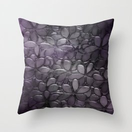 Metallic Flowers Throw Pillow
