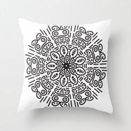 Spiral hand made Throw Pillow