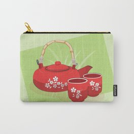 Red Tea Set Carry-All Pouch