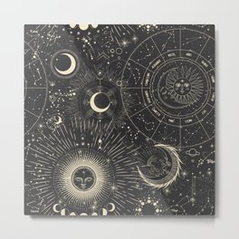 Space patterns Metal Print