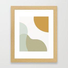 Abstract Shapes Illustration - Green Framed Art Print