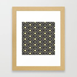Beneficial Bumblebees and Hexagonal Honeycombs Framed Art Print