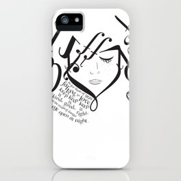 for those of you falling in love iPhone Case