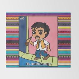 El Borracho Throw Blanket