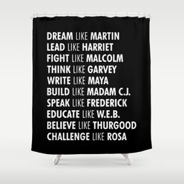 Panthers Lives Matter Shower Curtain
