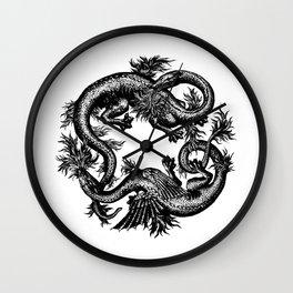 Salamander and Dragon Wall Clock