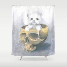 i ated all the brains Shower Curtain