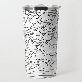 Black and white graphic - sound wave illustration Travel Mug