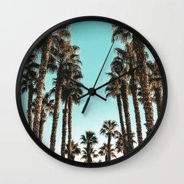 Palm Tree Days {1 of 2} Tropical Cali Art Print Wall Clock