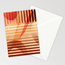 Patternmix Retro orange brown Stationery Cards