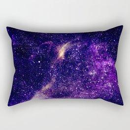Ultra violet purple abstract galaxy Rectangular Pillow