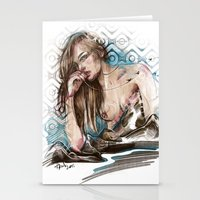 charmaine olivia Stationery Cards featuring Olivia by Anna Sun