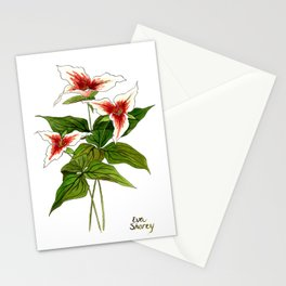 Painted Trilliums Stationery Cards