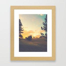 falling through a field Framed Art Print