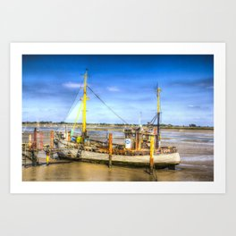 "Heybridge Basin Boat "" The Ranger "" Art Print"