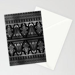 Silver and Black Glitzy Glam Ornate Art Deco Stationery Cards