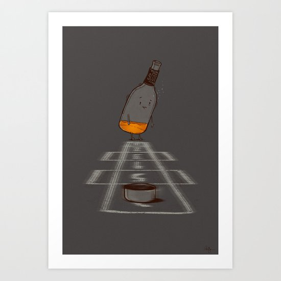 Hop Scotch Art Print
