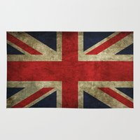 union jack Area & Throw Rugs featuring Union Jack by Bethan Eastwood
