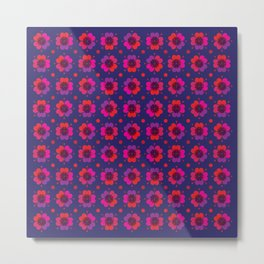 Poppy Heart Pattern Metal Print