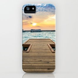 Wooden Jetty At Dusk Ultra HD iPhone Case