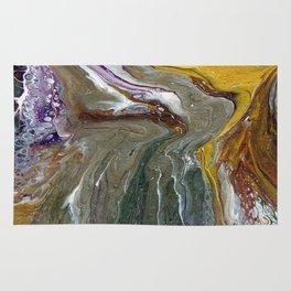 Fluid Acrylic XX - Original, acrylic, abstract painting Rug