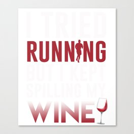 Funny T-Shirt For Wine Lover From Kids. Canvas Print
