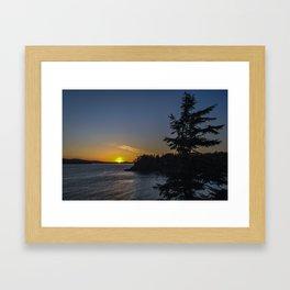 Tofino Sunset & Silhouettes Framed Art Print